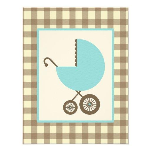 Fiesta de bienvenida al bebé del muchacho - carro  invitación personalizada