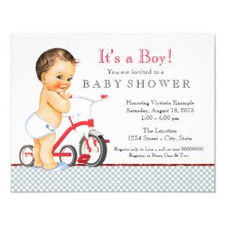 Fiesta de bienvenida al bebé del muchacho del invitación 10,8 x 13,9 cm