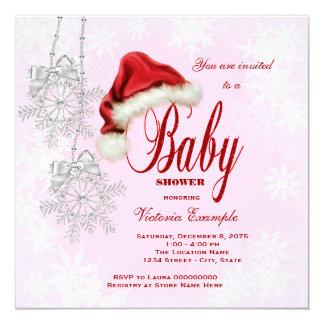 Fiesta de bienvenida al bebé del navidad de los invitación 13,3 cm x 13,3cm