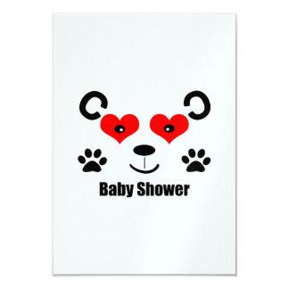 Fiesta de bienvenida al bebé del oso invitación 8,9 x 12,7 cm