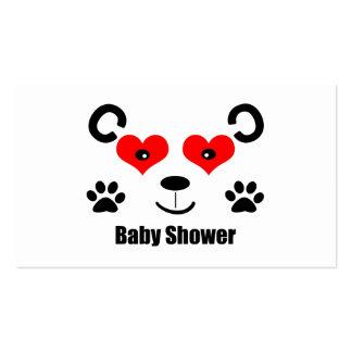 Fiesta de bienvenida al bebé del oso plantilla de tarjeta de negocio