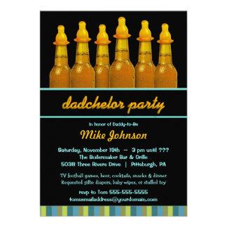 Fiesta de bienvenida al bebé del papá - el fiesta  invitacion personal