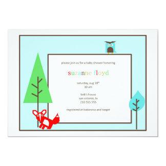 Fiesta de bienvenida al bebé del parque zoológico invitación 12,7 x 17,8 cm