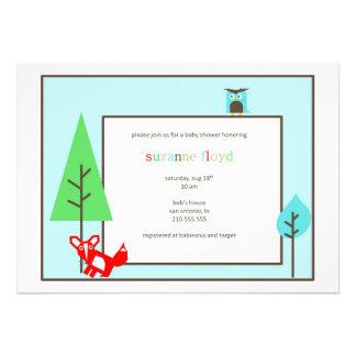 Fiesta de bienvenida al bebé del parque zoológico invitaciones personalizada