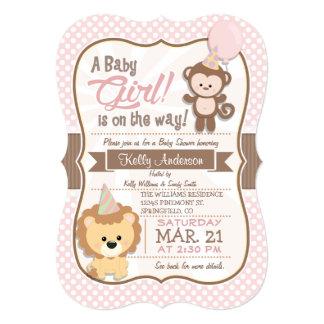 Fiesta de bienvenida al bebé del pastel del mono y invitación 12,7 x 17,8 cm