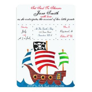 Fiesta de bienvenida al bebé del pirata invitación 12,7 x 17,8 cm
