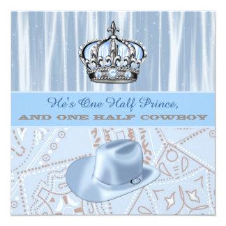 Fiesta de bienvenida al bebé del príncipe y del invitación 13,3 cm x 13,3cm