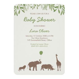 Fiesta de bienvenida al bebé del safari invitación 12,7 x 17,8 cm