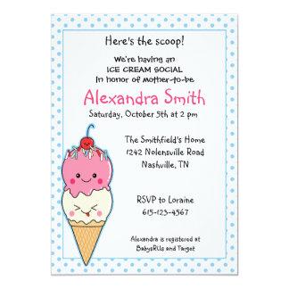 Fiesta de bienvenida al bebé del Social del helado Invitación 12,7 X 17,8 Cm