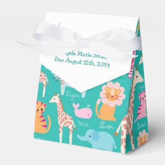 Fiesta de bienvenida al bebé del tema del safari cajas para regalos de boda