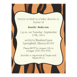 Fiesta de bienvenida al bebé del tigre invitación