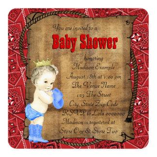 Fiesta de bienvenida al bebé del vaquero de los invitación 13,3 cm x 13,3cm