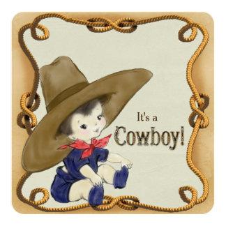 Fiesta de bienvenida al bebé del vaquero del comunicado personal