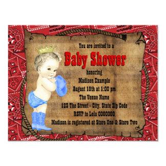 Fiesta de bienvenida al bebé del vaquero invitación 10,8 x 13,9 cm