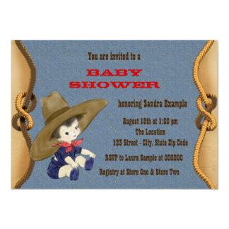 Fiesta de bienvenida al bebé del vaquero invitación 11,4 x 15,8 cm