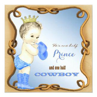 Fiesta de bienvenida al bebé del vaquero invitación 13,3 cm x 13,3cm