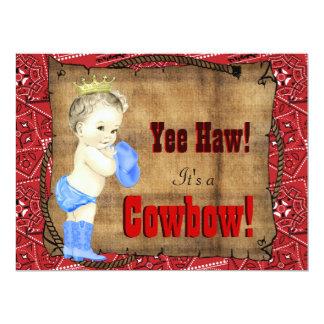 Fiesta de bienvenida al bebé del vaquero invitación 16,5 x 22,2 cm