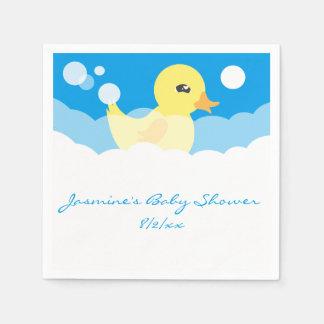 Fiesta de bienvenida al bebé Ducky de goma del Servilletas De Papel