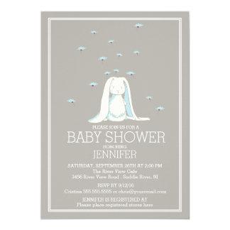 Fiesta de bienvenida al bebé dulce del conejito de invitación 12,7 x 17,8 cm