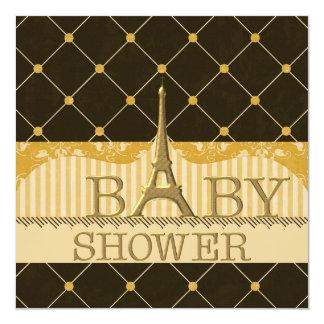 Fiesta de bienvenida al bebé elegante de la torre invitación 13,3 cm x 13,3cm