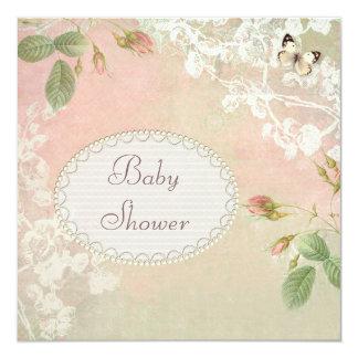 Fiesta de bienvenida al bebé elegante lamentable invitación 13,3 cm x 13,3cm