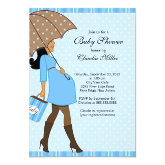 Fiesta de bienvenida al bebé embarazada invitación 12,7 x 17,8 cm
