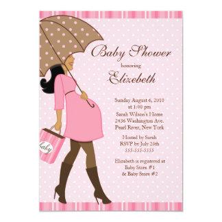 Fiesta de bienvenida al bebé embarazada moderna invitaciones personalizada
