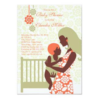 Fiesta de bienvenida al bebé embarazada moderna invitación 11,4 x 15,8 cm