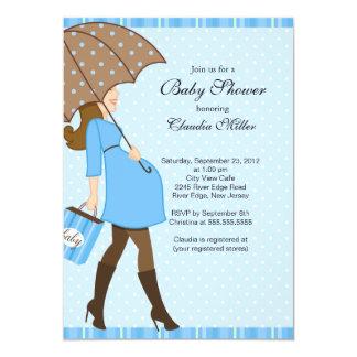 Fiesta de bienvenida al bebé embarazada triguena invitación 12,7 x 17,8 cm
