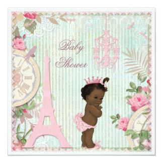 Fiesta de bienvenida al bebé étnica de princesa anuncios personalizados