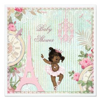 Fiesta de bienvenida al bebé étnica de princesa invitaciones personalizada