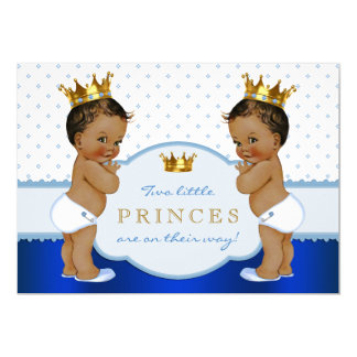 Fiesta de bienvenida al bebé étnica de príncipe invitación 12,7 x 17,8 cm