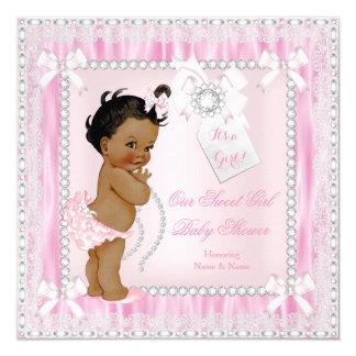 Fiesta de bienvenida al bebé étnica dulce del invitación 13,3 cm x 13,3cm