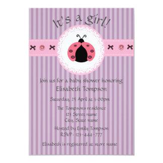 Fiesta de bienvenida al bebé femenina de las invitación 12,7 x 17,8 cm