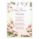 Fiesta de bienvenida al bebé floral del vintage invitación 12,7 x 17,8 cm