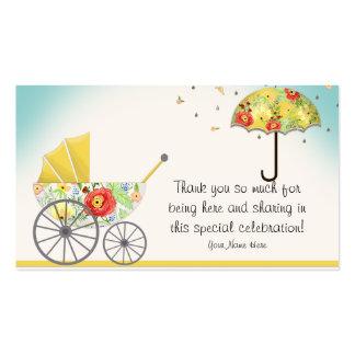 Fiesta de bienvenida al bebé floral moderna del tarjetas de visita