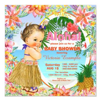 Fiesta de bienvenida al bebé hawaiana de Luau Invitación 13,3 Cm X 13,3cm