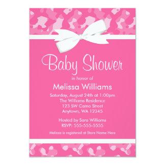 Fiesta de bienvenida al bebé impresa camuflaje invitación 12,7 x 17,8 cm