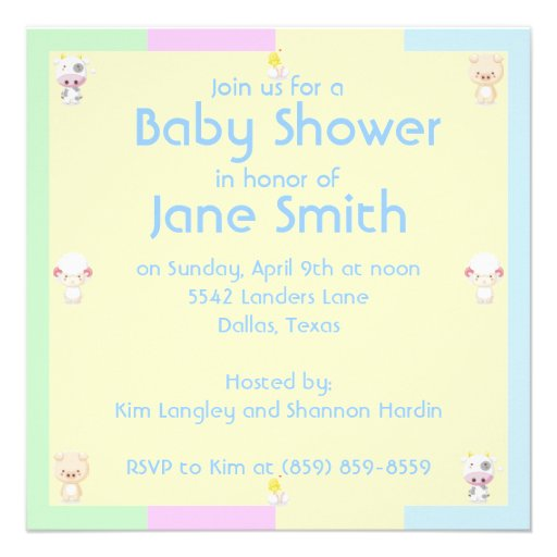 Fiesta de bienvenida al bebé invitación