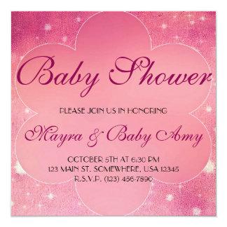 Fiesta de bienvenida al bebé invitación 13,3 cm x 13,3cm