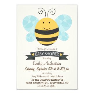 Fiesta de bienvenida al bebé linda de la abeja invitación 12,7 x 17,8 cm