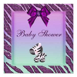 Fiesta de bienvenida al bebé linda de la púrpura comunicados