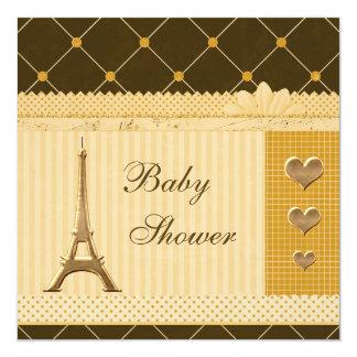 Fiesta de bienvenida al bebé linda de los lunares invitación 13,3 cm x 13,3cm