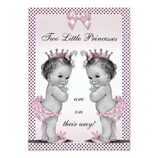 Fiesta de bienvenida al bebé linda de princesa invitación 12,7 x 17,8 cm