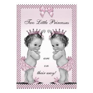 Fiesta de bienvenida al bebé linda de princesa Twi Invitacion Personalizada