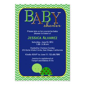 Fiesta de bienvenida al bebé linda del bebé de la invitación 12,7 x 17,8 cm