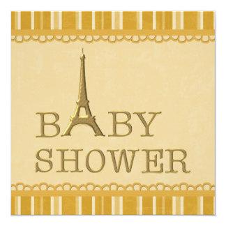 Fiesta de bienvenida al bebé linda del neutral de invitación 13,3 cm x 13,3cm