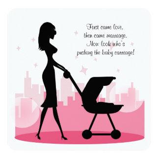 Fiesta de bienvenida al bebé linda invitación 13,3 cm x 13,3cm