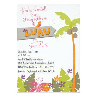 Fiesta de bienvenida al bebé Luau Invitación 12,7 X 17,8 Cm