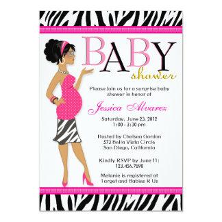 Fiesta de bienvenida al bebé moderna atractiva invitación 12,7 x 17,8 cm